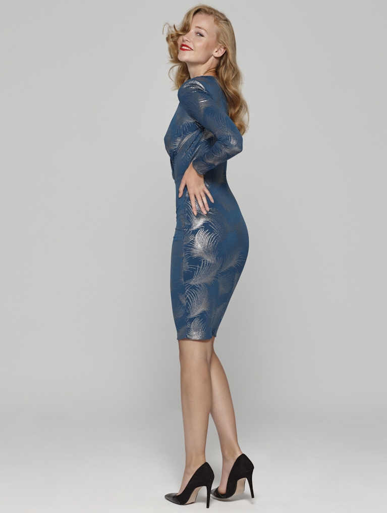 Vestido con estampado de Lurex - Vestido Rita Lurex
