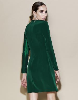Vestido cuello en pico – Vestido Ana