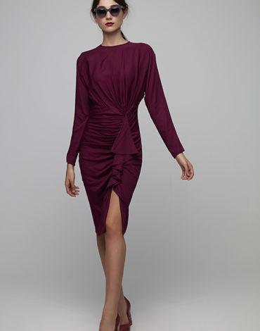 Vestido fruncido - Vestido Alba Liso