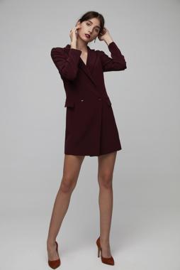 Vestido suelto tipo esmoquin - Vestido Ava