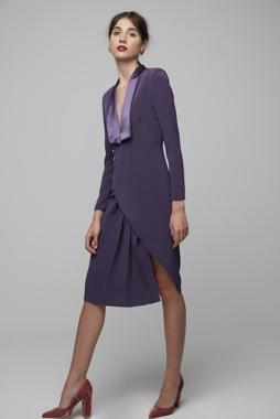 Vestido con cuello esmoquin – Vestido Julia