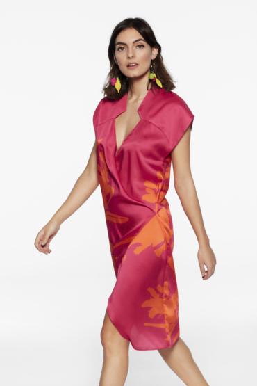 Vestido con cuello japonés – Vestido Adri