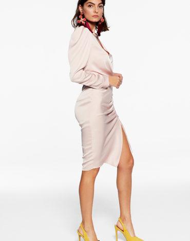 Vestido de raso - Vestido Camila