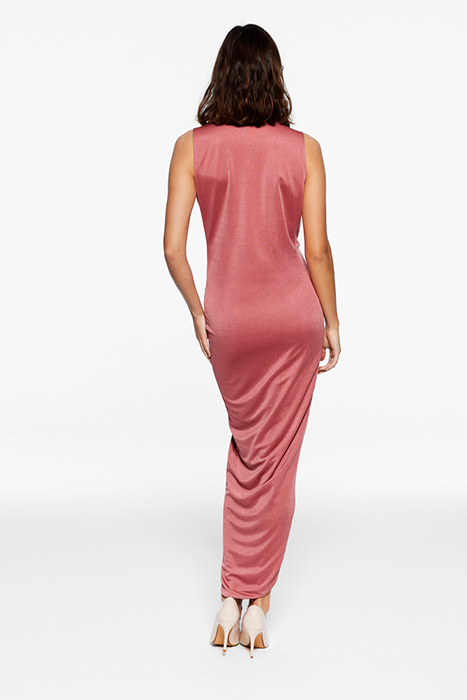 Vestido con cuello de pico – Vestido Peonía