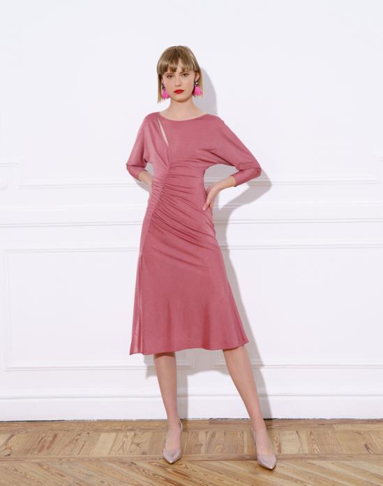 Vestido Luz LOLALI rosa empolvado