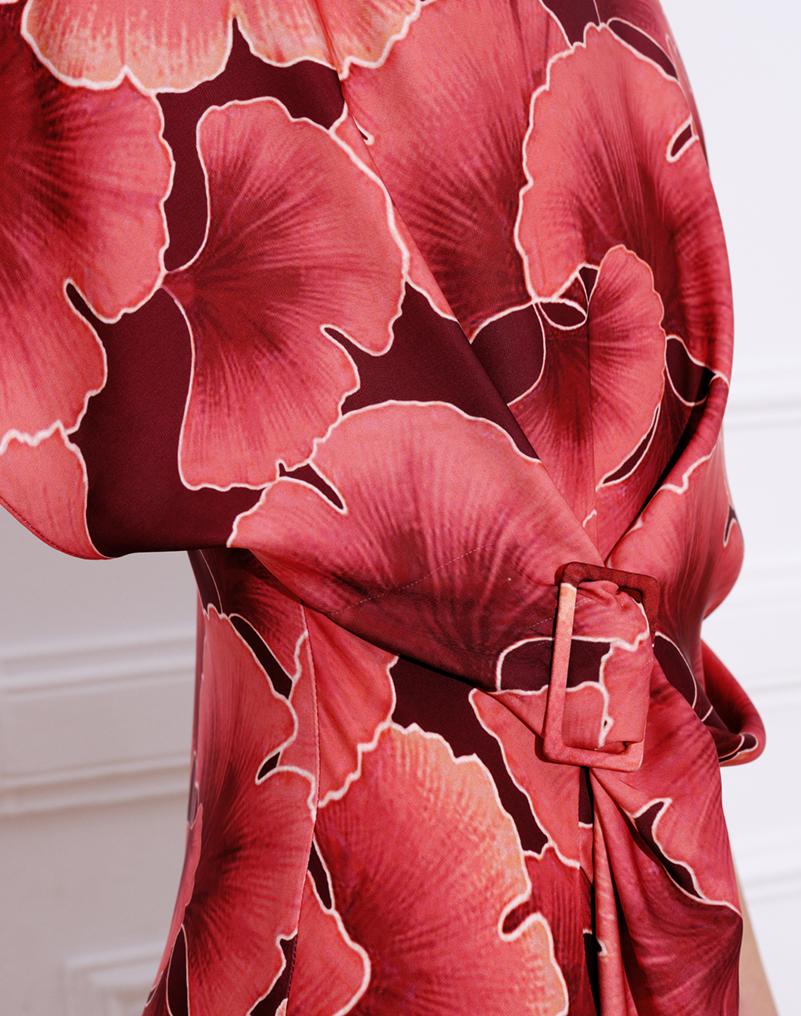 Vestido Cala LOLALI estampado coral