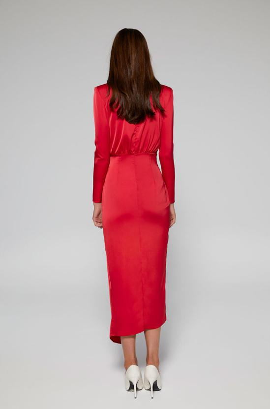 Vestido rojo largo LISA Lolali