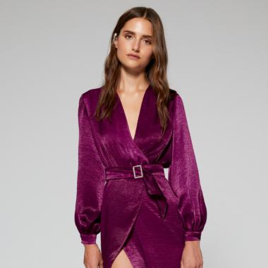 Vestido constanza color buganvilla Lolali