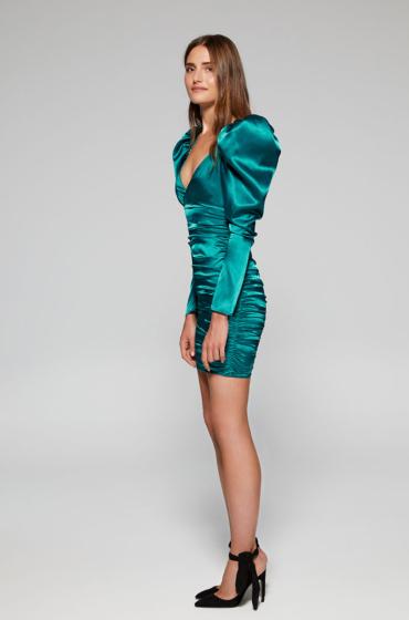 Stretch satin mini frock dress. QUICA Lolali