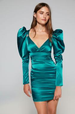 Vestido corto turquesa Quica Lolali