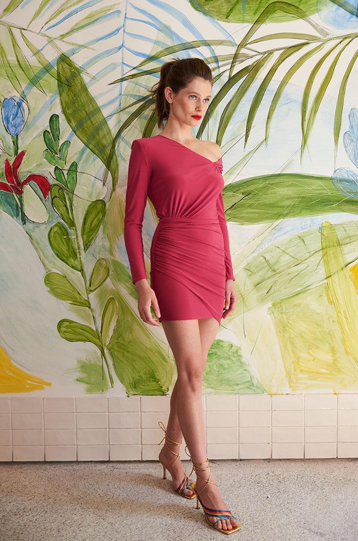 Vestido Lola Li Bruna Rosa