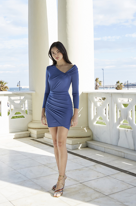 Vestido Bruna Azul Lola Li Primavera Verano 2021
