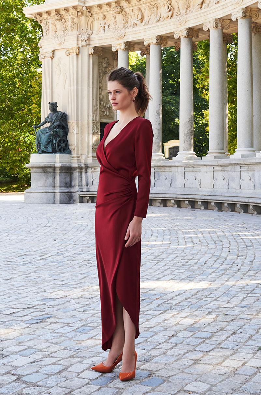 SALLY DRESS CLARET LOLA LI